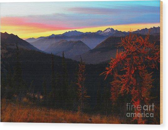 Cascades Sunrise Wood Print