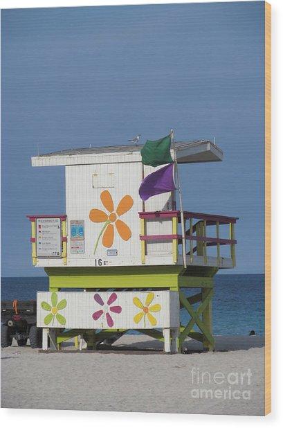 Casita De Playa Wood Print