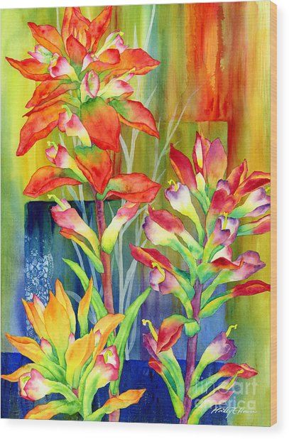 Castilleja Indivisa Wood Print