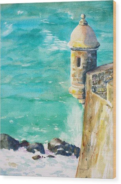 Castillo De San Cristobal Ocean Sentry  Wood Print