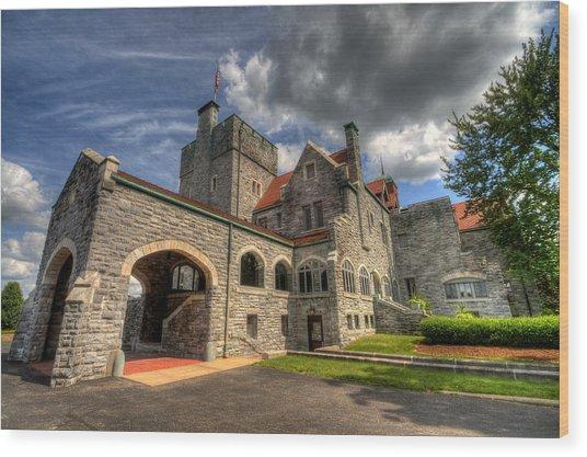 Castle Administration Building Wood Print