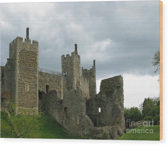 Castle Curtain Wall Wood Print