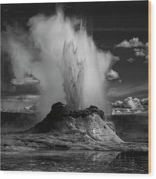Castle Geyser Wood Print