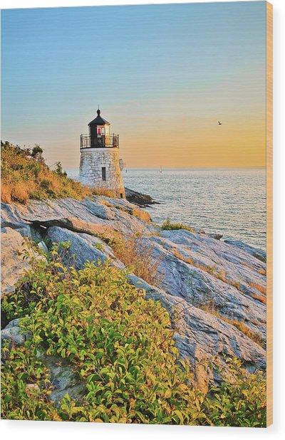 Castle Hill Lighthouse 1 Newport Wood Print