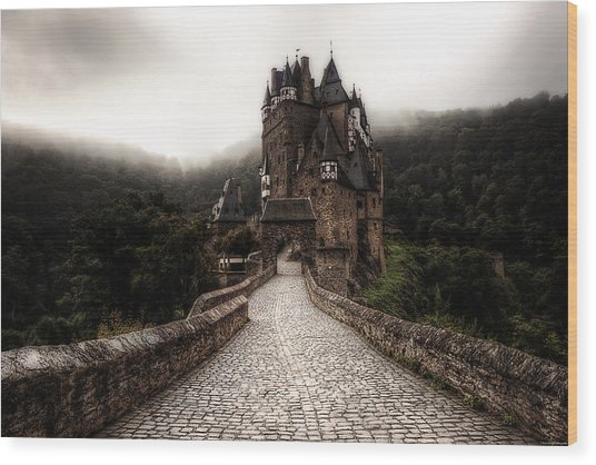 Wood Print featuring the photograph Castle In The Mist by Ryan Wyckoff