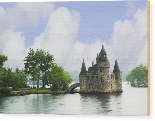 Castle In The St Lawrence Seaway Wood Print