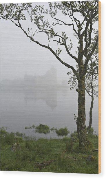 Castle Kilchurn Tree Wood Print