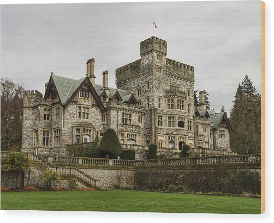 Hatley Castle Wood Print