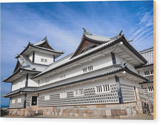Castle Of Japan Wood Print