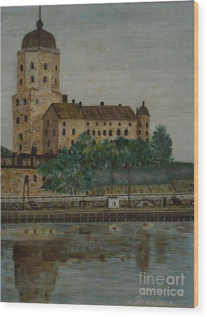Castle Of Vyborg Wood Print