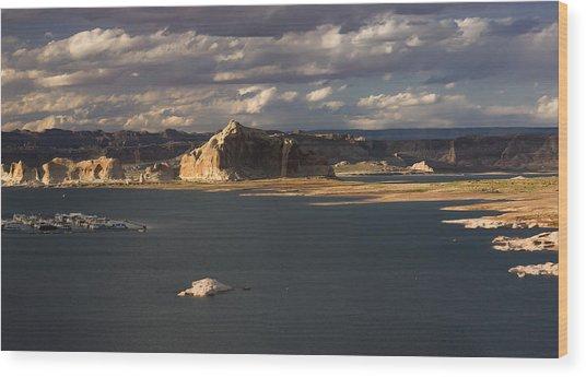 Castle Rock Sunset Wood Print
