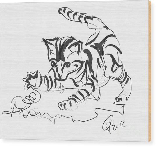 Cat- Cute Kitty  Wood Print