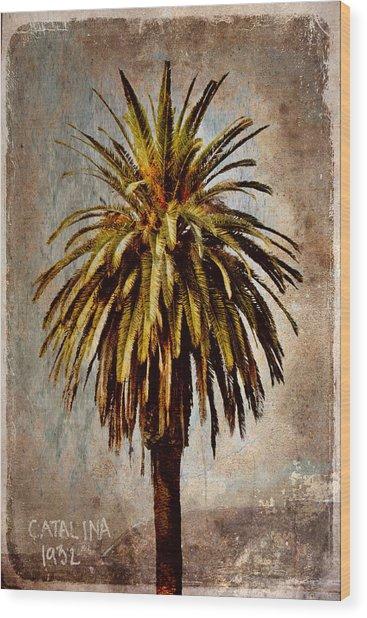 Catalina 1932 Postcard Wood Print