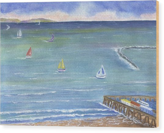Catalina To Redondo Wood Print