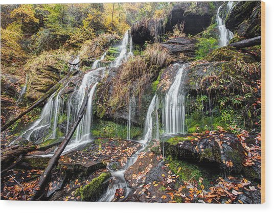Catawba Falls Wood Print by Scott Moore