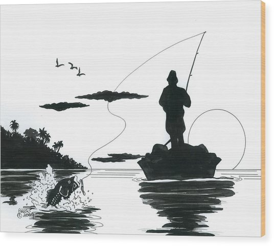 Catch Of The Day Wood Print
