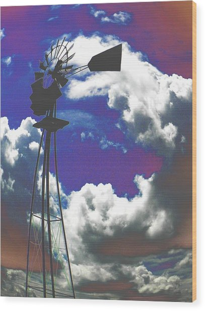 Catch The Wind Wood Print