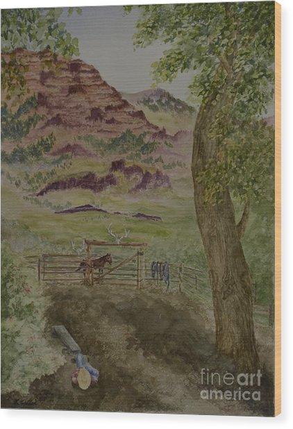 Catching A Few Winks  Wood Print by Kathleen Keller