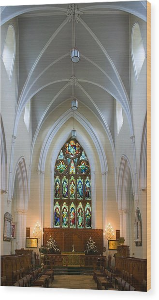 Cathedral Interior Wood Print
