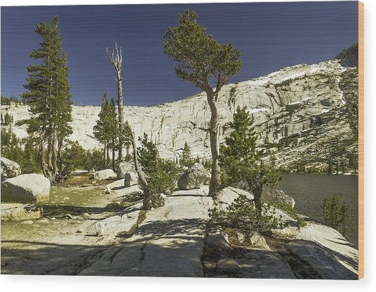 Cathedral Lakes-yosemite Series 20 Wood Print by David Allen Pierson