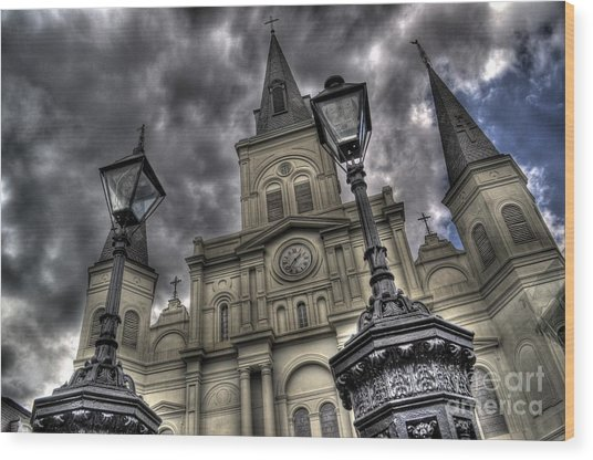 Cathedral New Orleans Wood Print