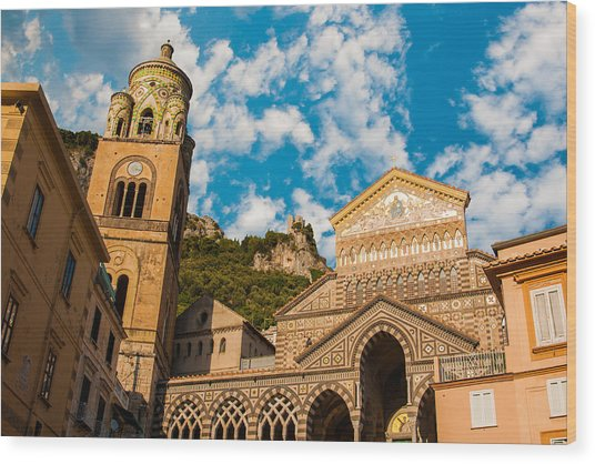 Cathedral Of Amalfi Wood Print
