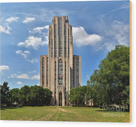 Cathedral Of Learning Pittsburgh Pa Wood Print