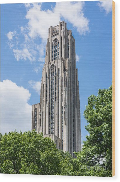 Cathedral Of Learning - Pittsburgh Pa Wood Print