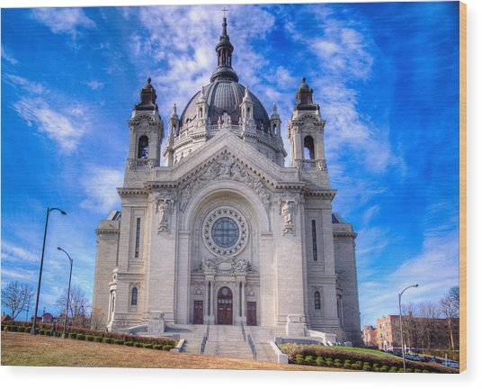 Cathedral Of Saint Paul Wood Print