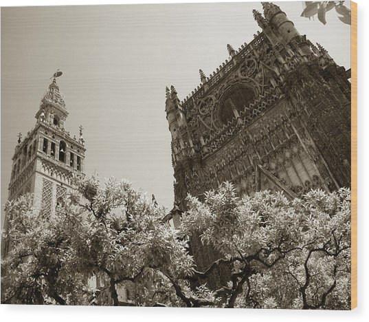 Cathedral Of Seville Wood Print