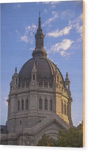 Cathedral Of St. Paul Sunset Wood Print by T C Hoffman
