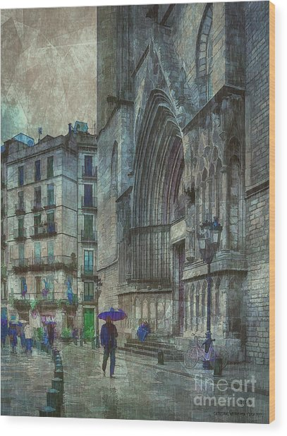 Cathedral Of The Sea Wood Print
