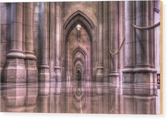 Cathedral Reflections Wood Print