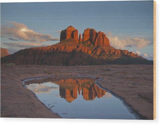 Cathedrals' Reflection Wood Print