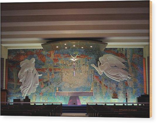 Catholic Chapel At Air Force Academy Wood Print