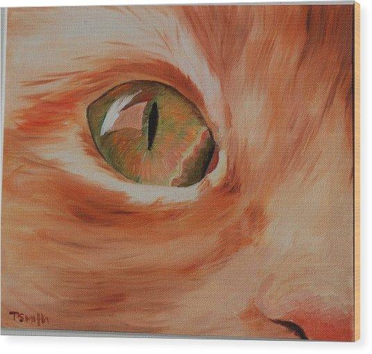 Cat's Eye Wood Print