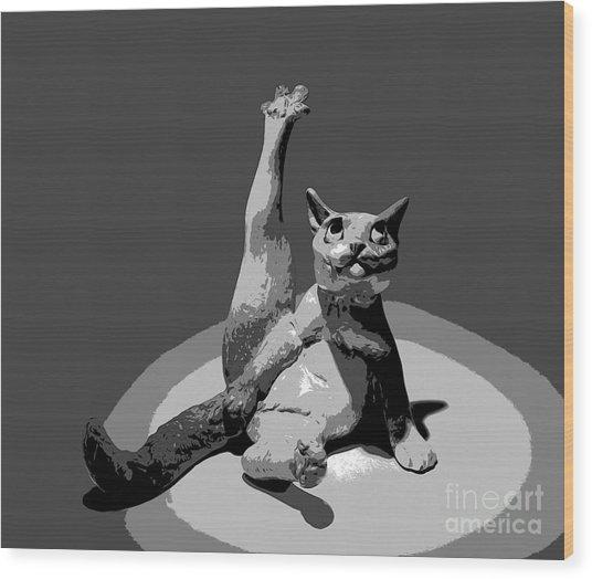 Cats... Wood Print