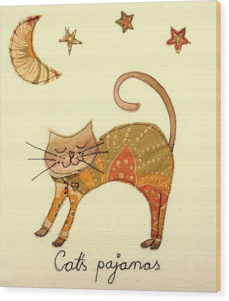 Cats Pajamas Wood Print