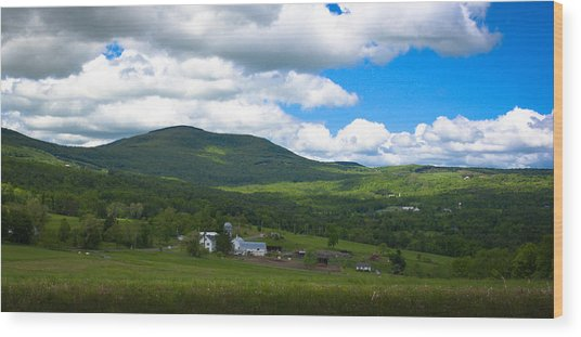 Catskill New York Farm Wood Print