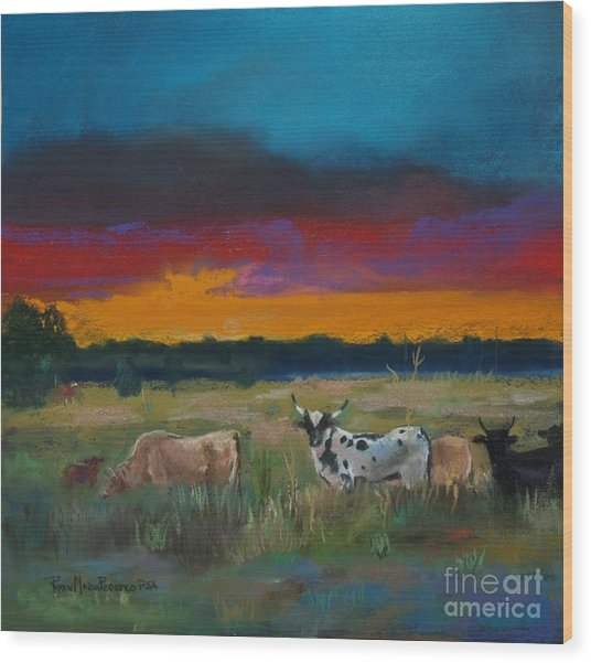 Cattle's Cadence Wood Print