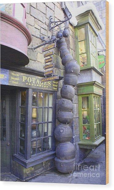 Cauldron Alley Wood Print