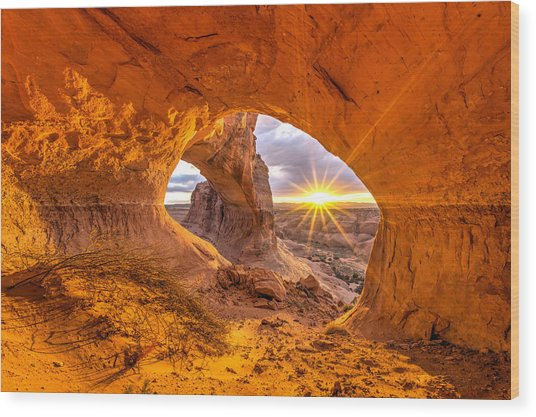 Cave Arch Wood Print