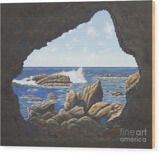Cave View Wood Print