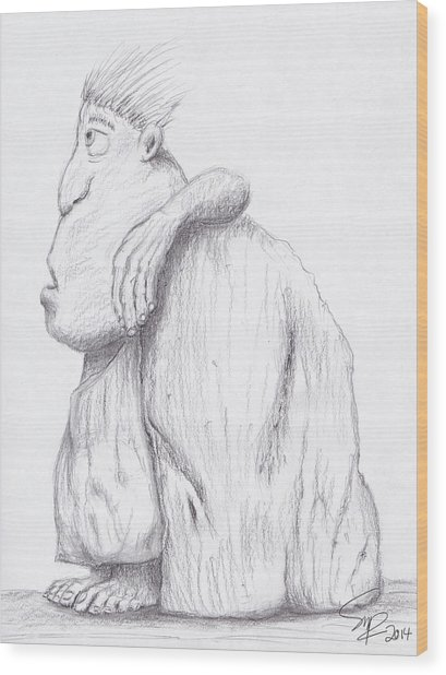 Caveman Wood Print