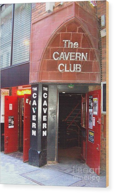 Cavern Club Entrance Mathew Street Liverpool Uk Wood Print