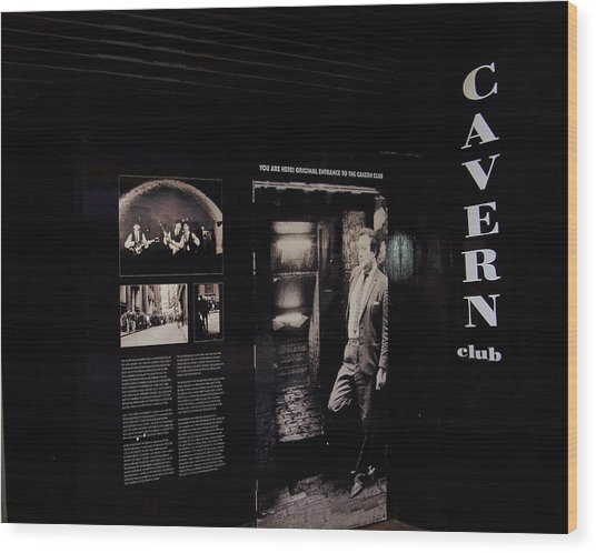 Cavern Club Original Doorway Liverpool Uk Wood Print