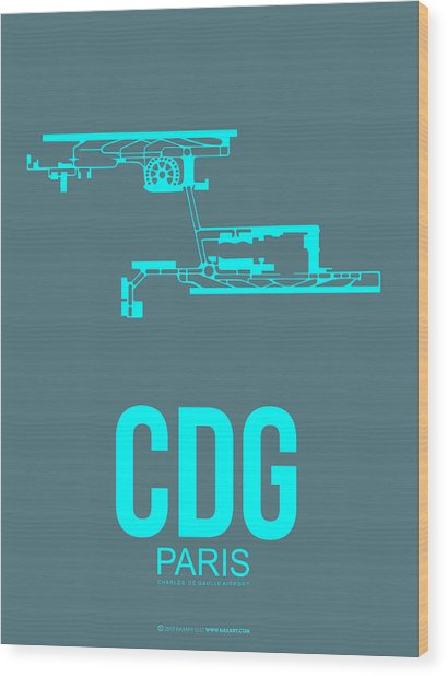 Cdg Paris Airport Poster 1 Wood Print