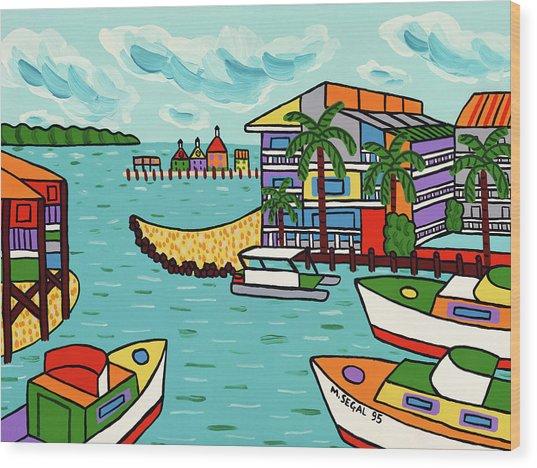 Cedar Cove Marina - Cedar Key Wood Print