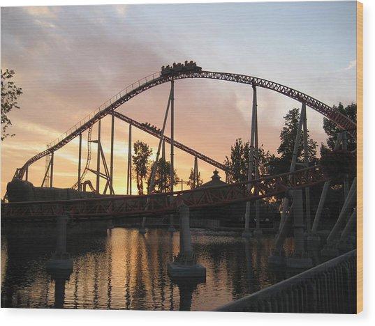 Cedar Point - Maverick - 12121 Wood Print