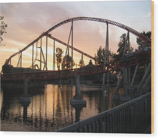 Cedar Point - Maverick - 12122 Wood Print